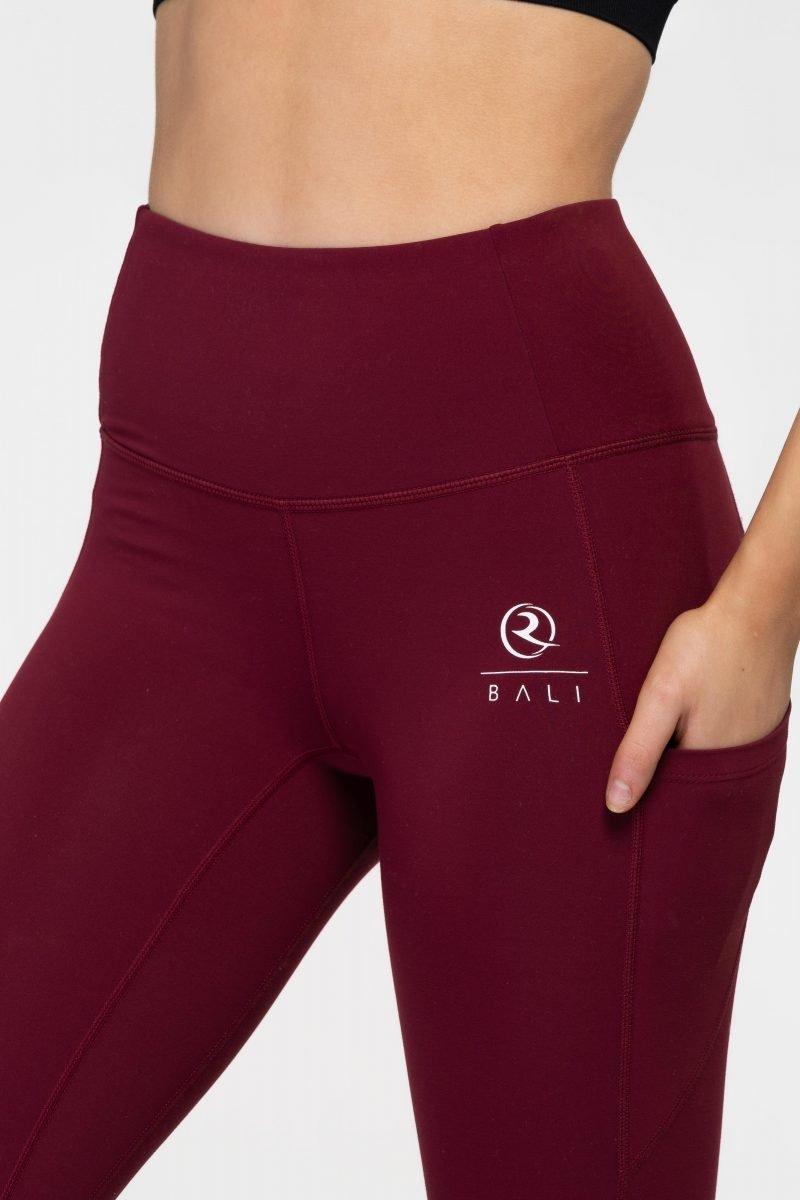 BALI® Supreme Leggings Burgundy